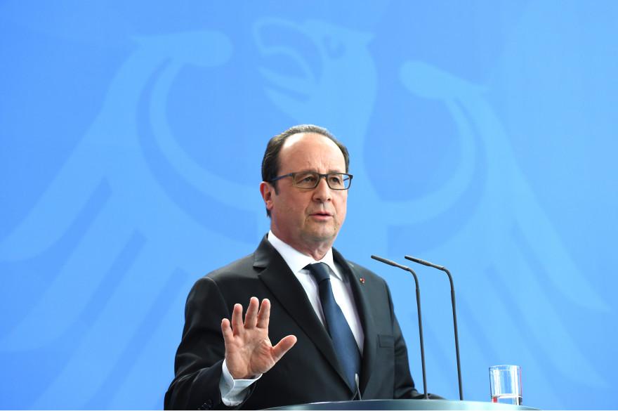François Hollande à Berlin, mardi 19 mai 2015