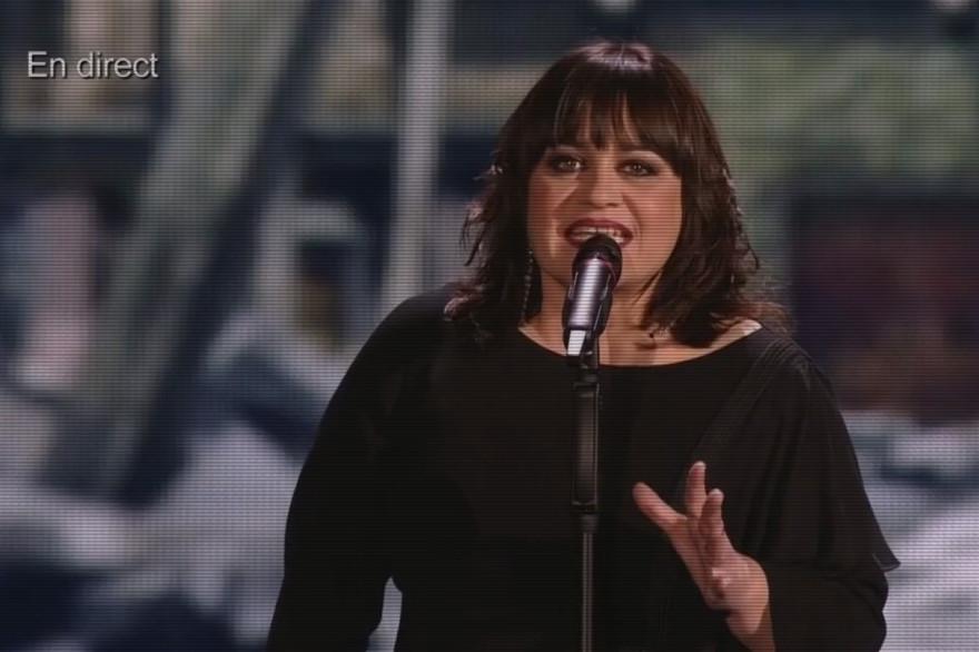 Lisa Angell, lors de sa prestation pour la 60e cérémonie de l'Eurovision, samedi 23 mai 2015.