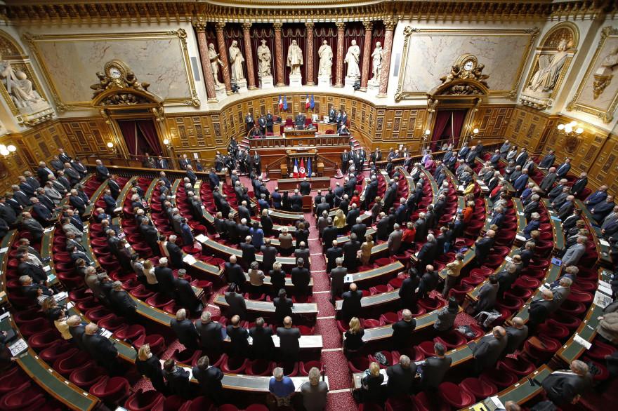 Vue du Sénat lors d'une séance le 7 avril 2015