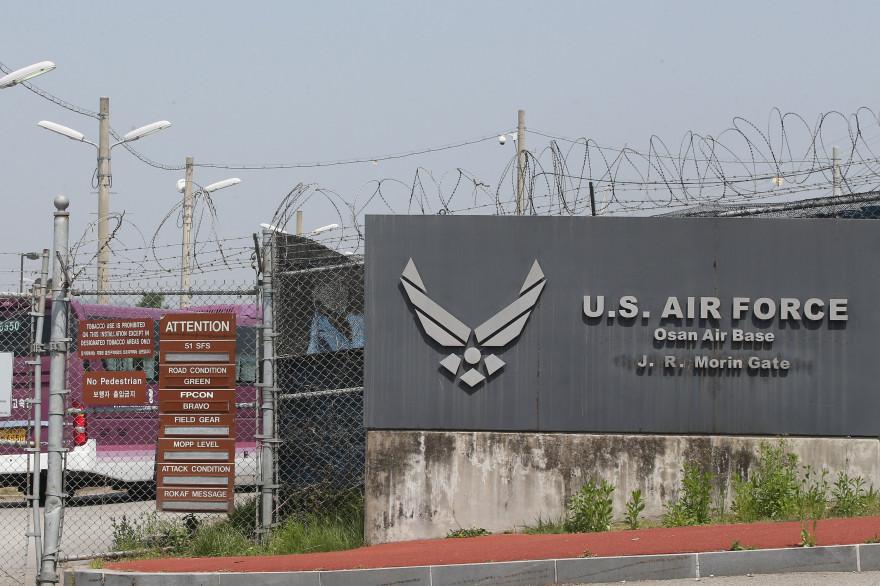 La base américaine d'Osan en Corée du Sud le 28 mai 2015