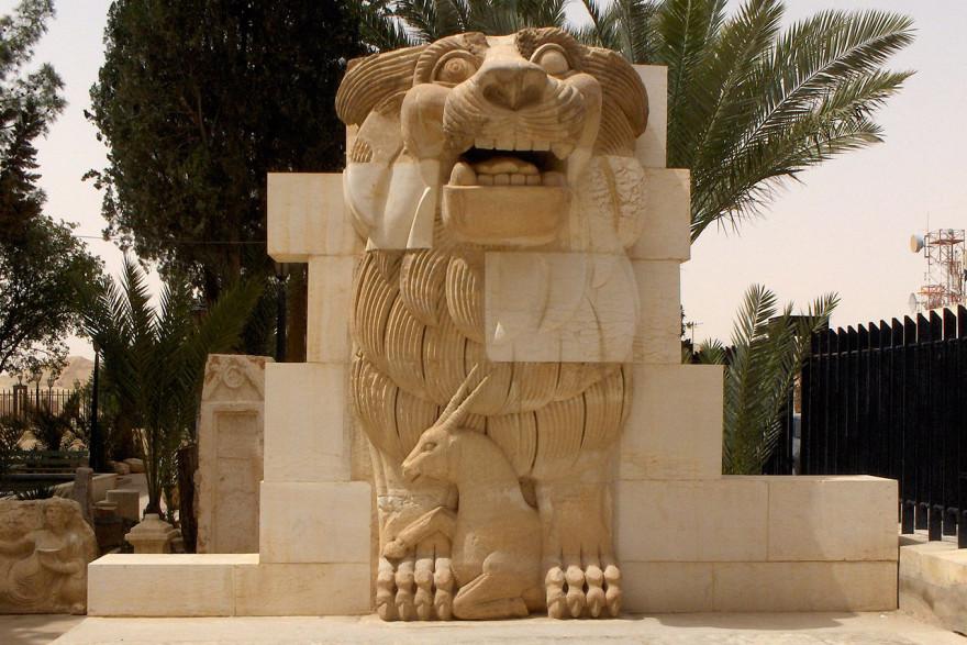 Cette statue d'un dieu lion vieille de 1.900 ans aurait été détruite