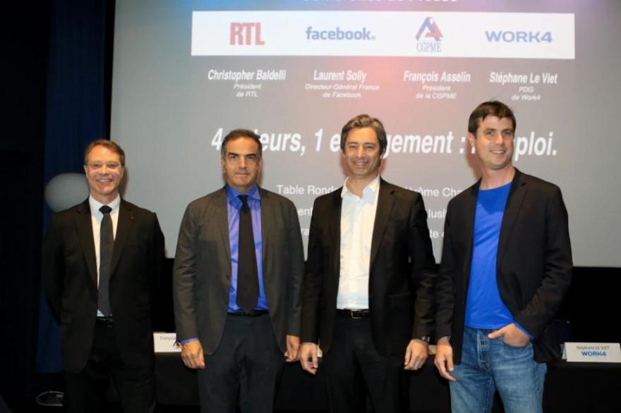 Facebook, la CGPME, Work4 et RTL s'engagent pour soutenir l'emploi