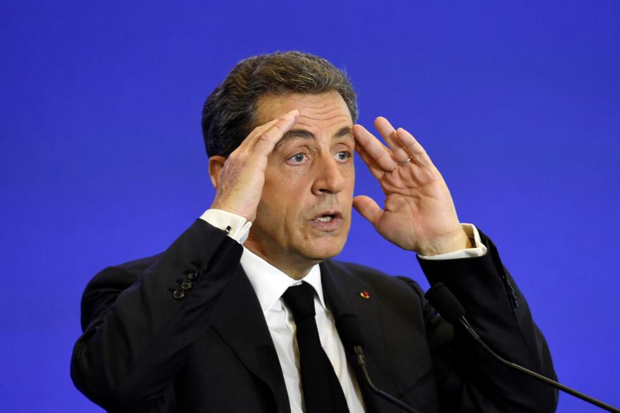 """Le président de """"Les Républicains"""" Nicolas Sarkozy à Paris le 13 juin 2015."""