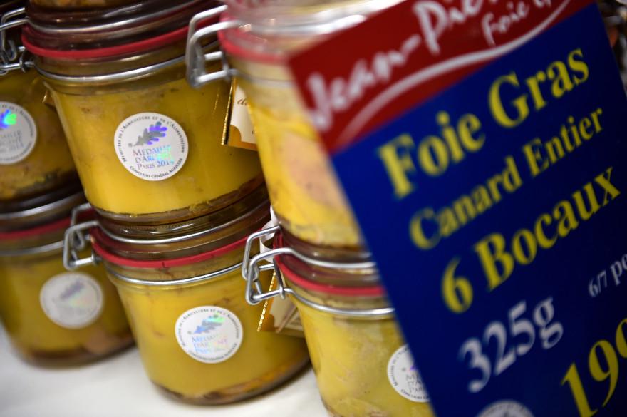 Des blocs de foie gras au salon de l'agriculture
