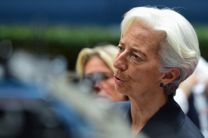 Christine Lagarde lors d'une réunion de l'Eurogroupe à Bruxelles, le 27 juin 2015