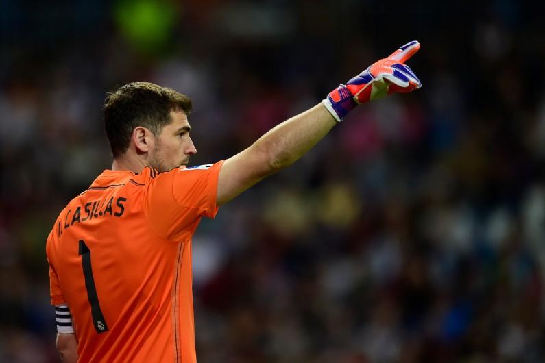 Iker Casillas pendant le match du Real Madrid contre Getafe, le 23 mai 2015