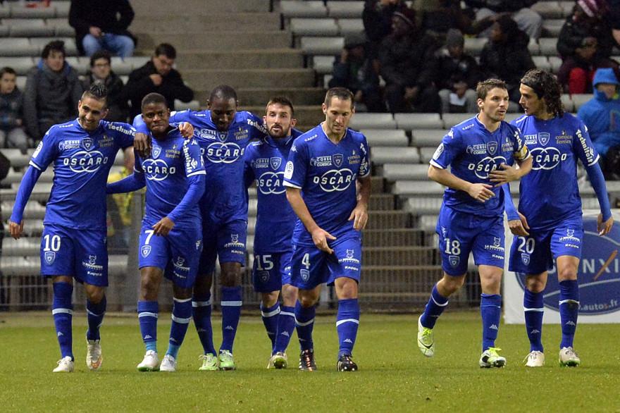 Les joueurs du SC Bastia, le 14 février 2015.