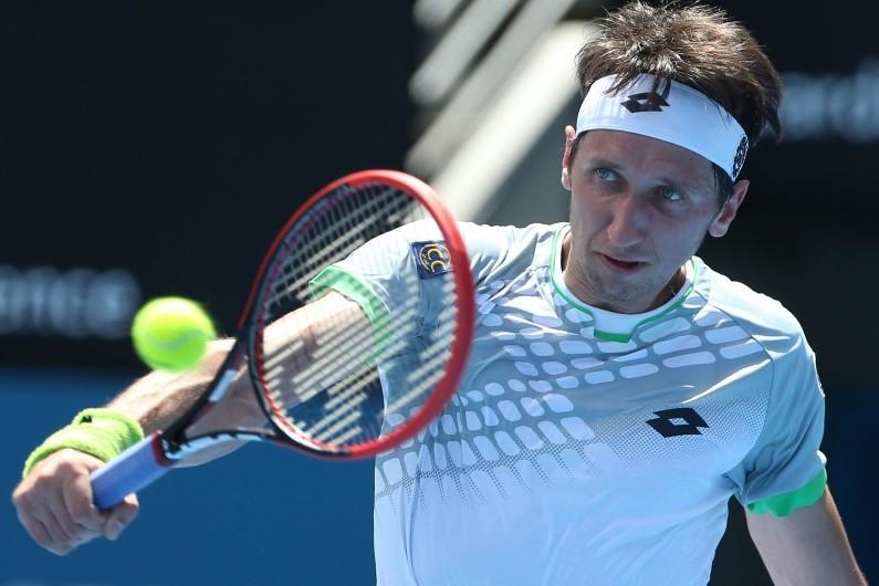 Le joueur ukrainien Serhiy Stakhovsky au tournoi de Sydney, le 13 janvier 2015