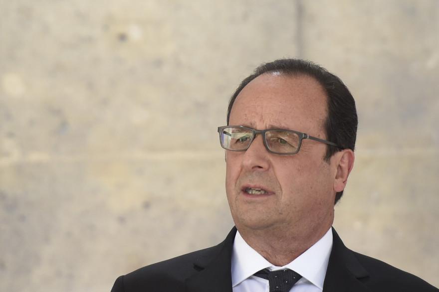 François Hollande au ministère de la Défense à Paris le 13 juillet 2015.