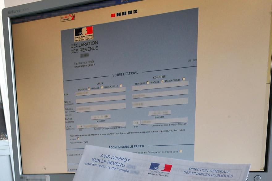 Une déclaration d'impôts en ligne (illustration).
