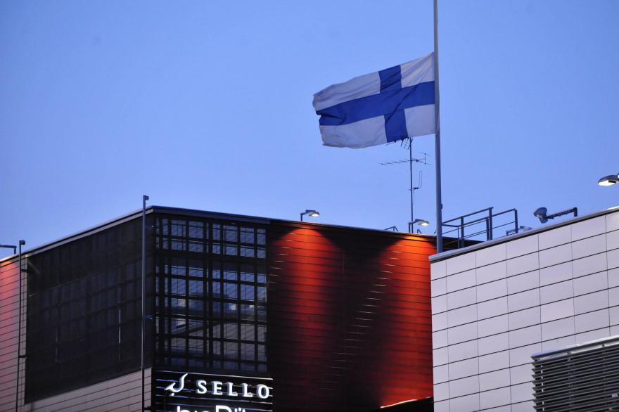 Le drapeau finlandais (illustration)