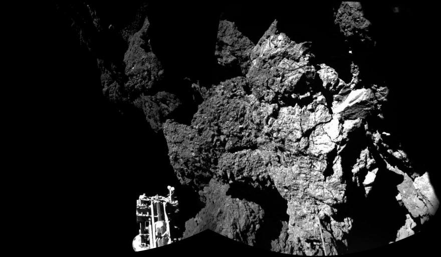 Photo prise par Philae sur la comète Tchouri le 13 novembre 2014.