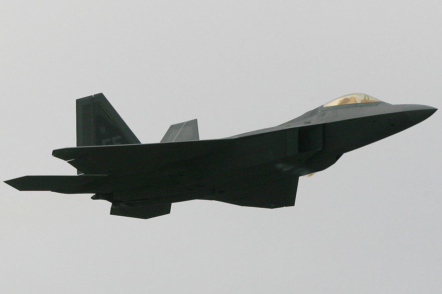 Le F22 Raptor, un avion de chasse américain (illustration)