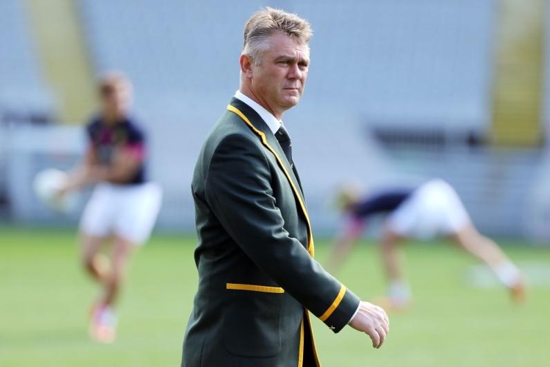 Heyneke Meyer, sélectionneur de l'équipe d'Afrique du Sud de rugby, à Auckland le 7 septembre 2013