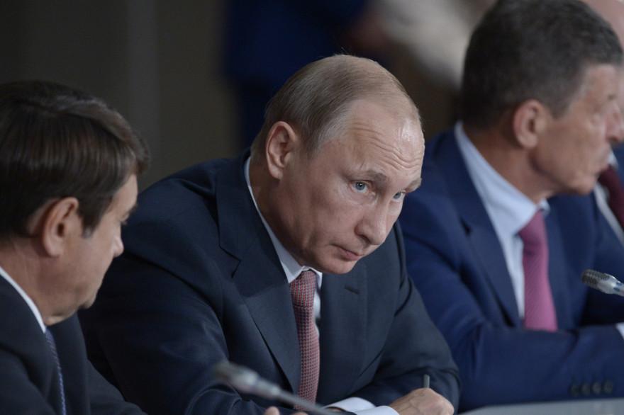 Le président Vladimir Poutine en visite en Crimée le 17 août 2015.