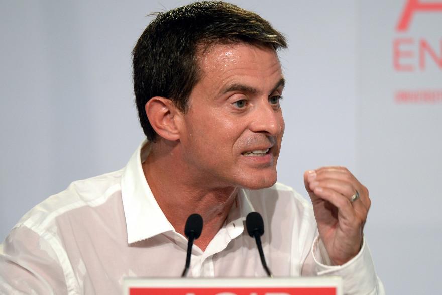 Manuel Valls en clôture de l'université d'été de La Rochelle.