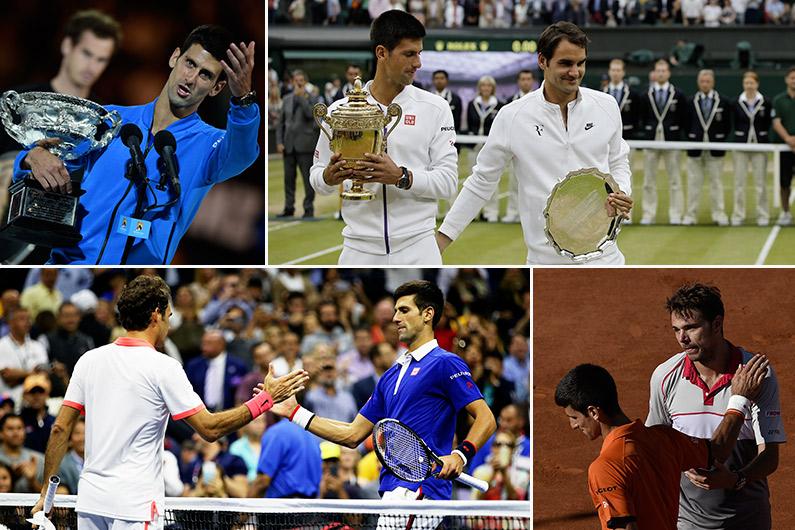 Novak Djokovic a remporté l'Open d'Australie, Wimbledon et l'US Open. Il a buté à Roland-Garros sur Stan wawrinka