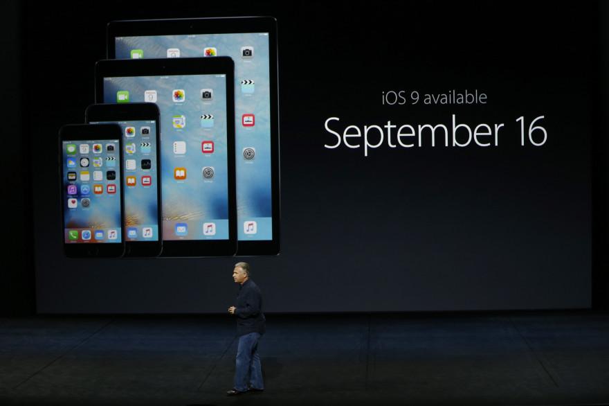 La présentation d'iOS 9 à San Francisco, le 9 septembre 2015