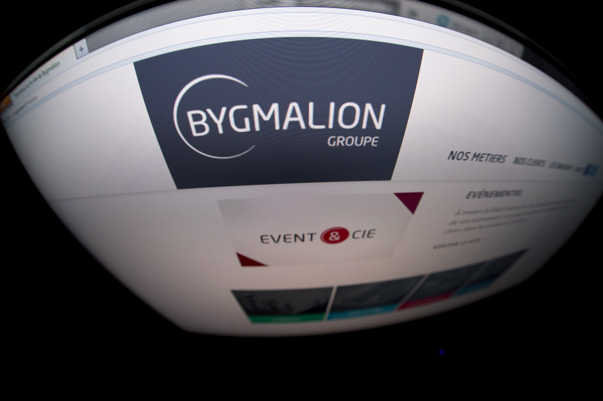 Photo du site web de Bygmalion. (Illustration)