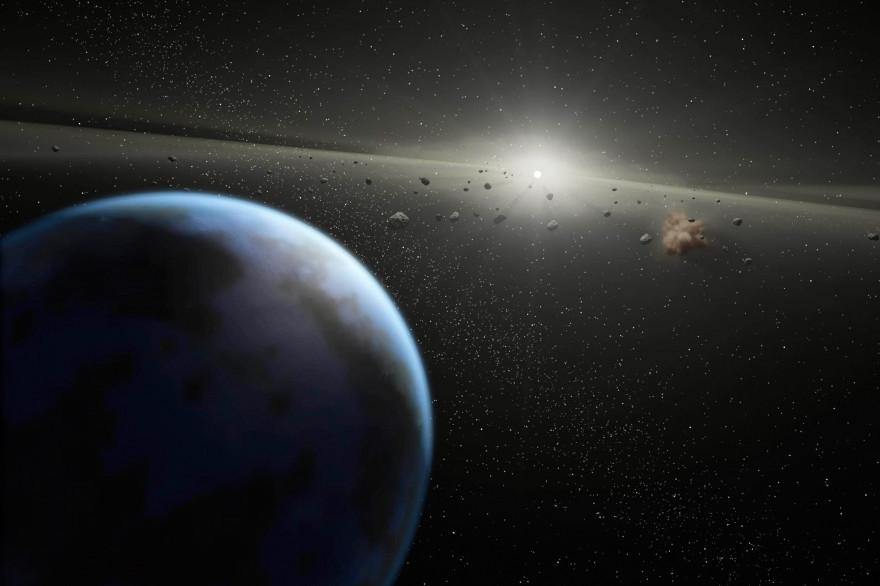 Vue d'artiste d'un astéroïde (illustration)