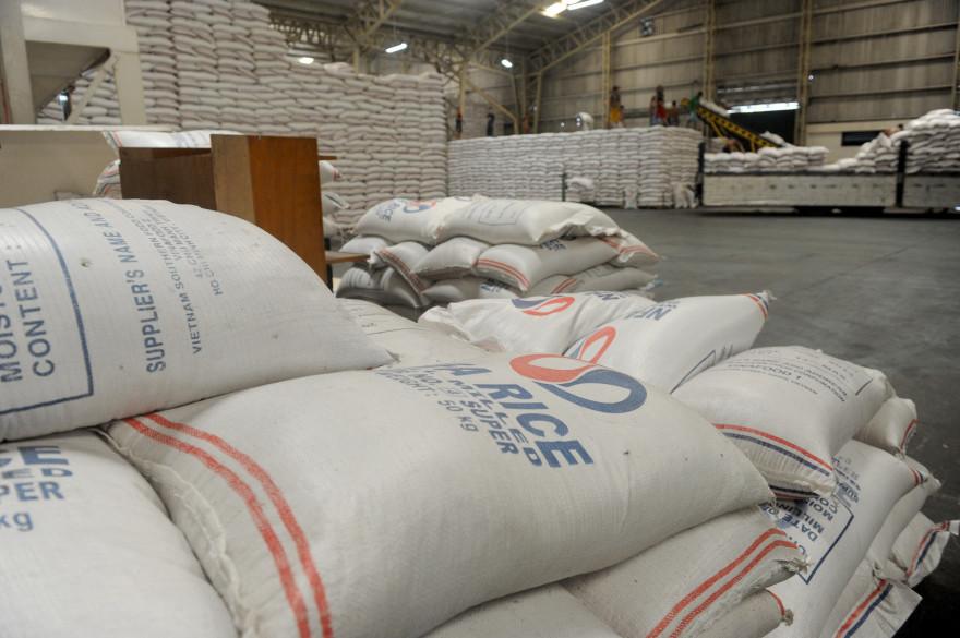 Des sacs de riz (illustration)