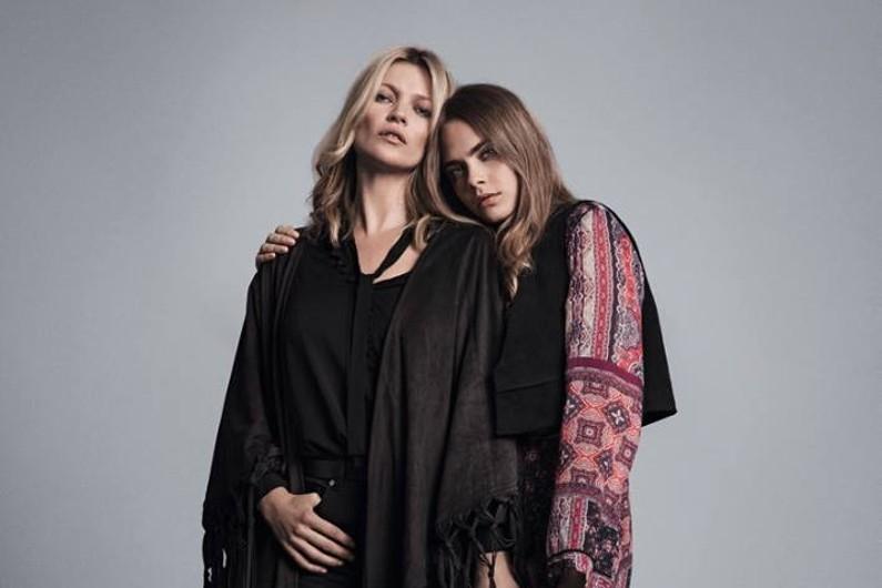 Kate Moss et Cara Delevingne ont passé une soirée sexy