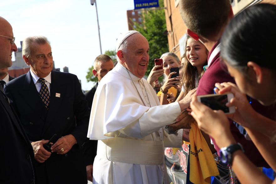 Le pape François à Harlem le 25 septembre 2015.