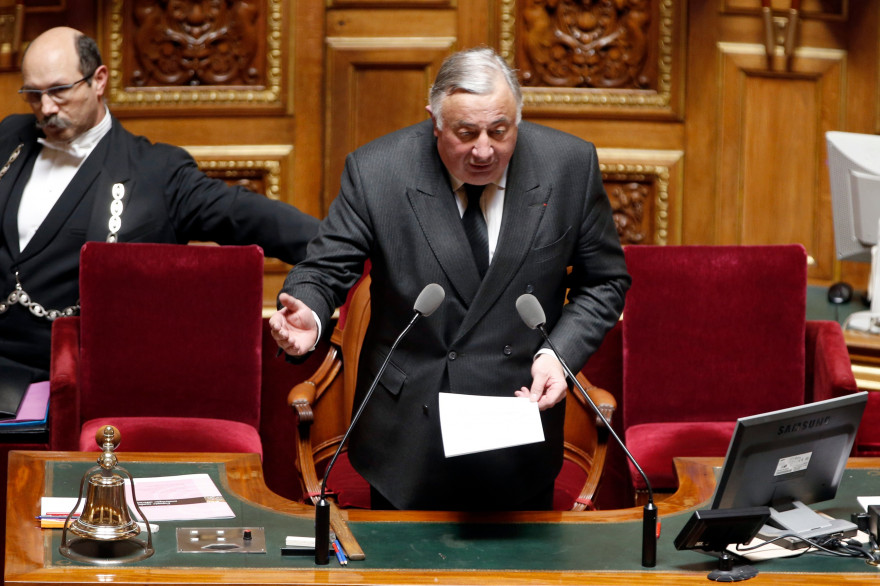 Le président du Sénat Gerard Larcher, en avril 2015