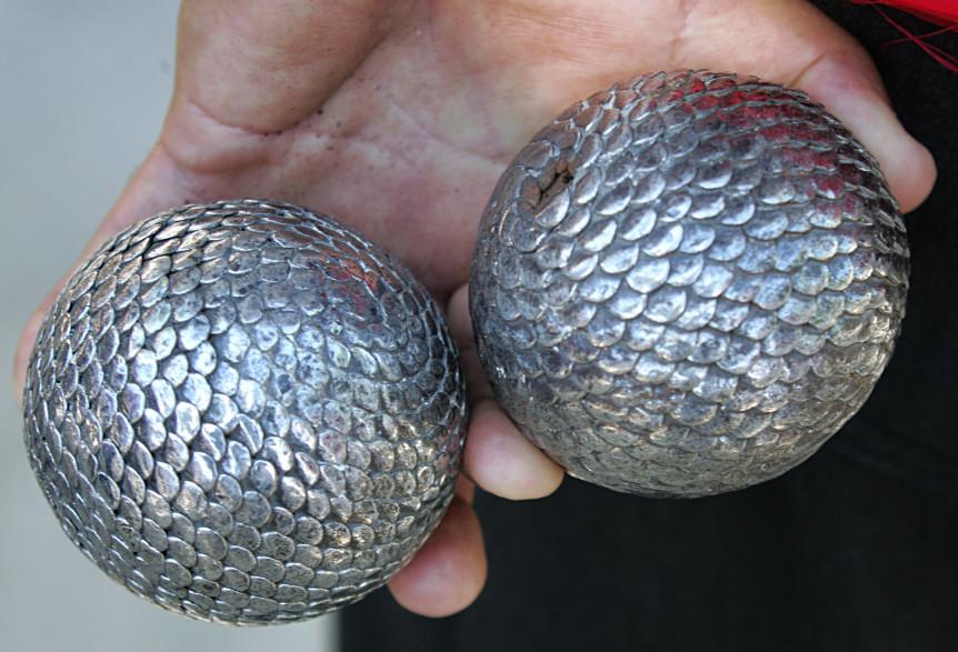 Des boules de pétanque (illustration)