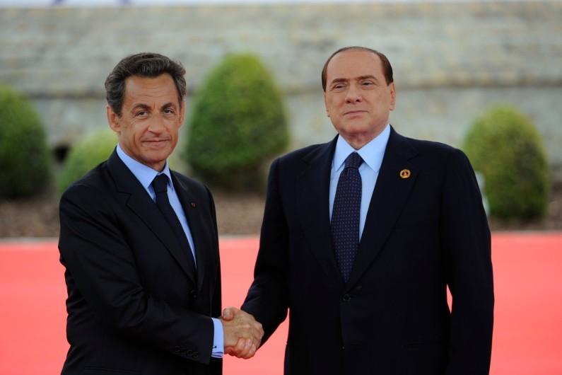 Nicolas Sarkozy et Silvio Berlusconi