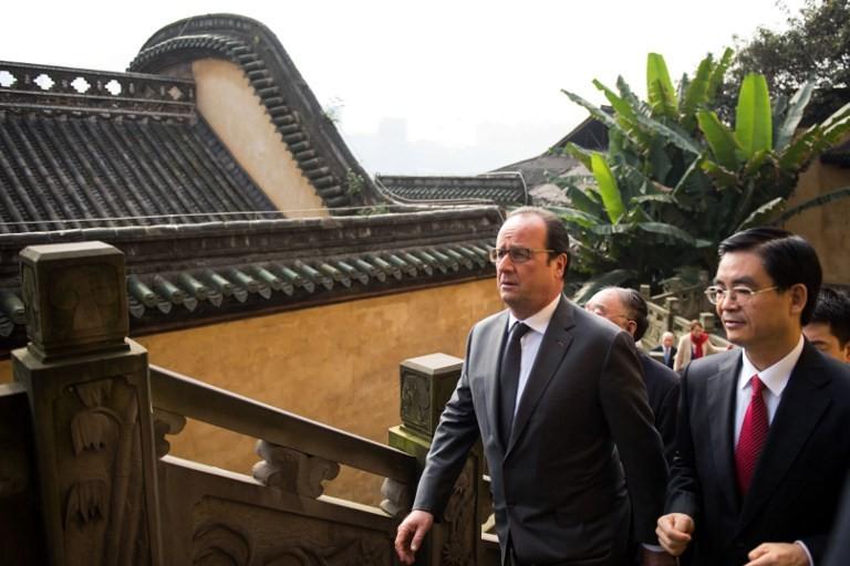 François Hollande en visite officielle à Chongqing en Chine