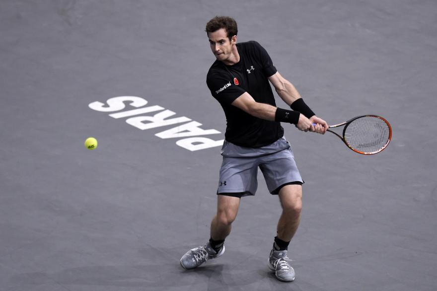 Andy Murray à Bercy en novembre 2015