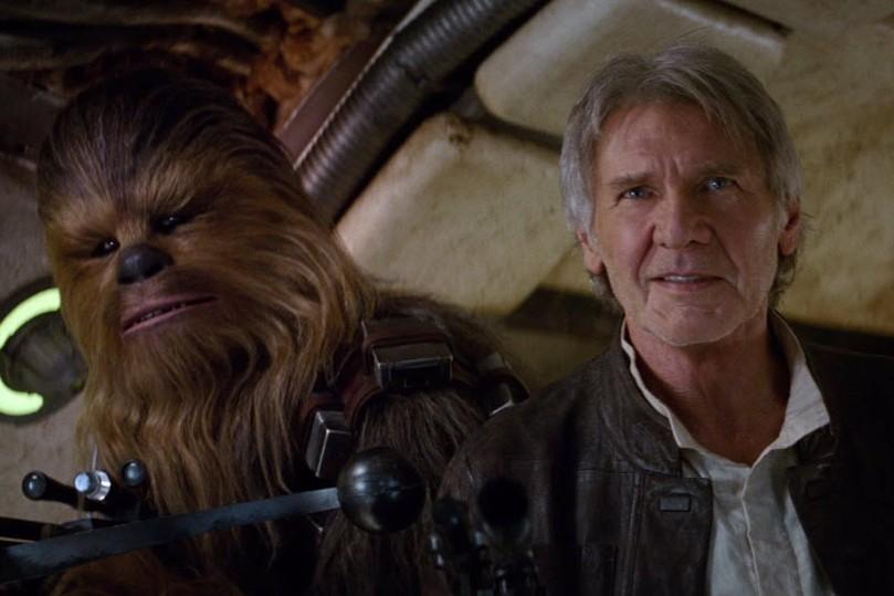 Chewbacca, à gauche, fait partie de l'espèce Wookie