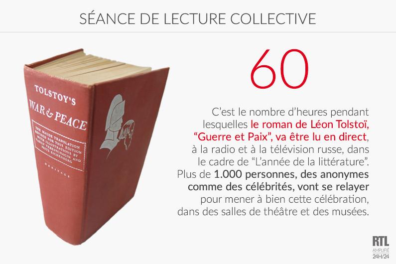 """LE CHIFFRE - 60 heures pour lire collectivement """"Guerre et Paix"""" de Tolstoï"""