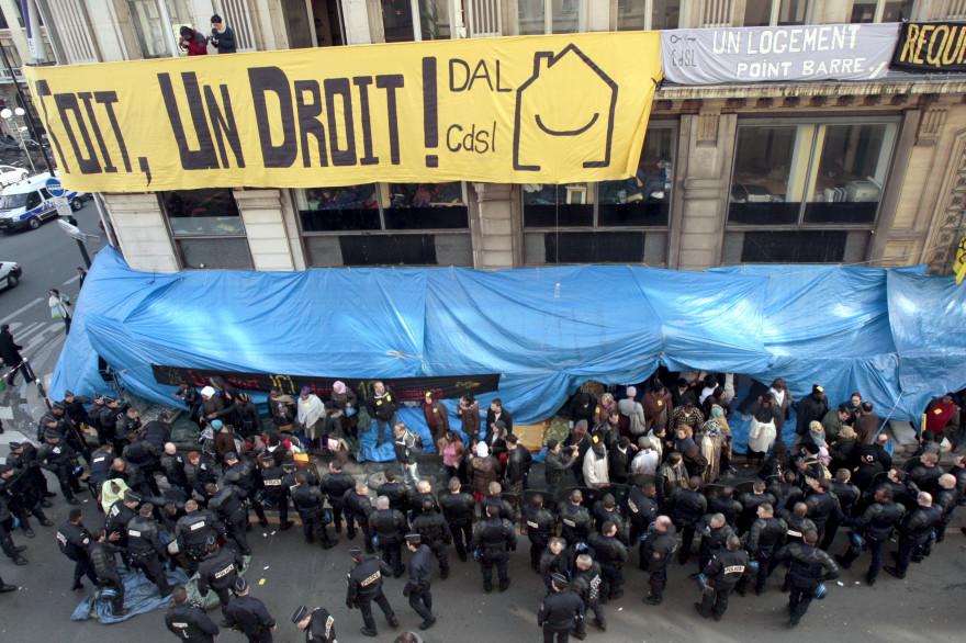 Une manifestation contre le relogement à Paris (illustration).