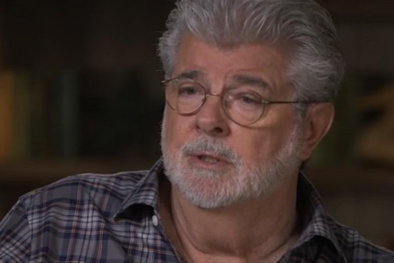 George Lucas lors de son interview sur PBS fin décembre 2015