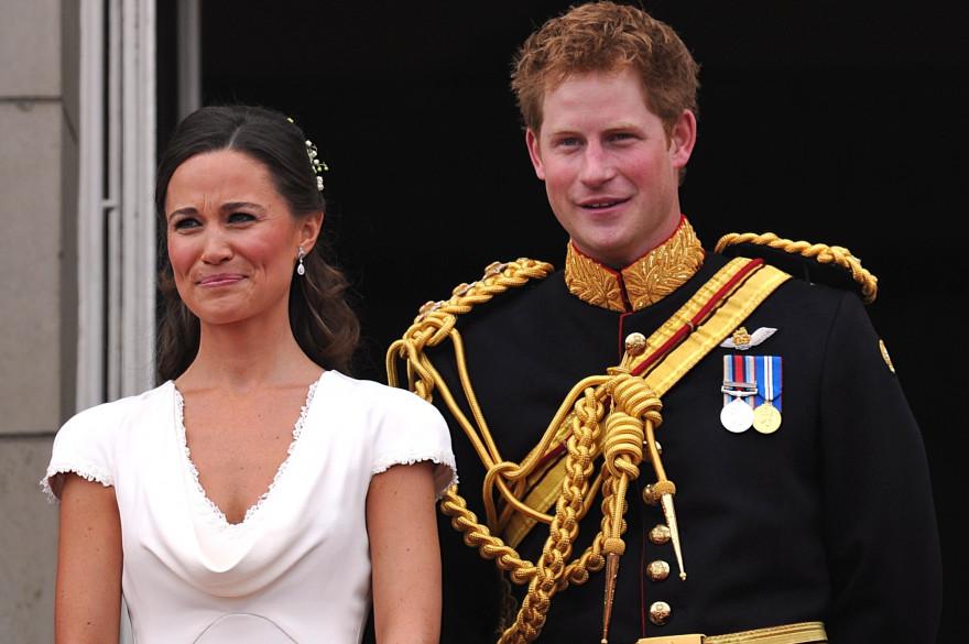 Pippa et le prince Harry lors du mariage du prince William et de Kate Middleton en 2011