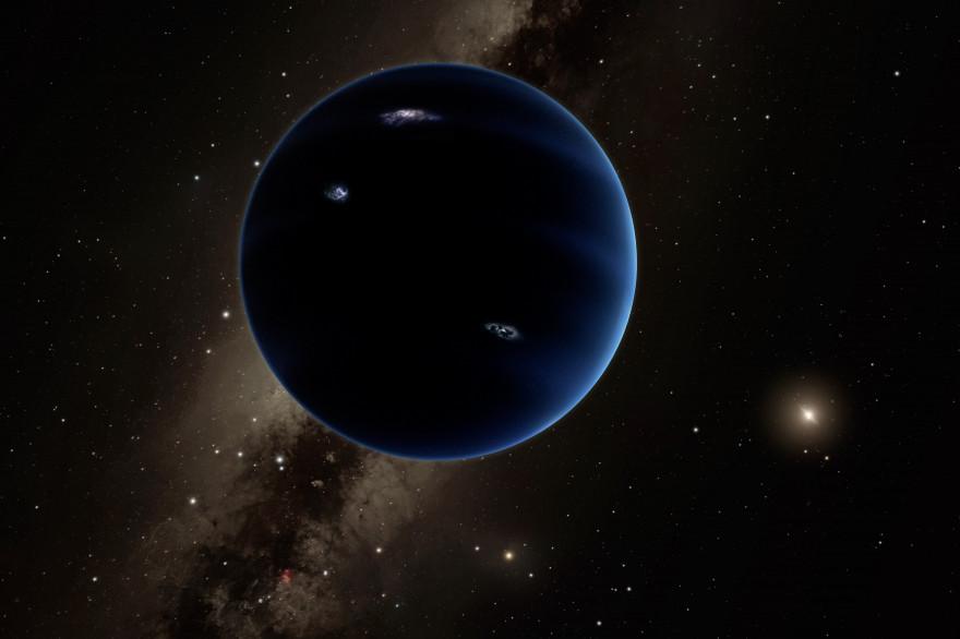 """Une illustration de ce que pourrait être la """"Neuvième planète"""" du système solaire"""
