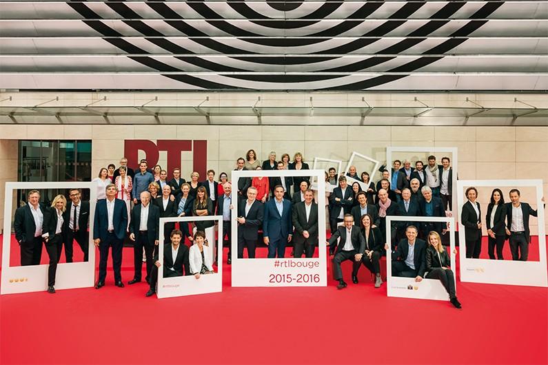 Les animateurs et chroniqueurs de RTL lors de la rentrée 2015-2016