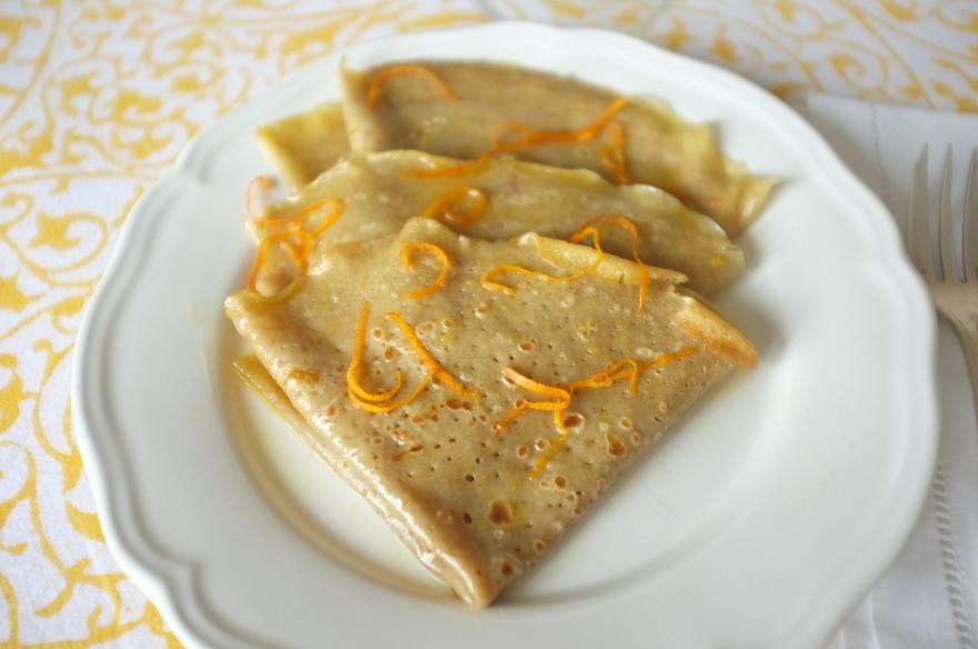 Recette sans gluten de crêpe Suzette