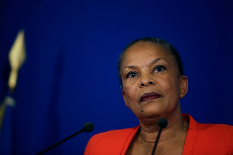 Christiane Taubira au ministère de la Justice, le 27 janvier 2016