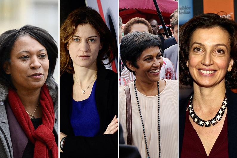 Hélène Geoffroy, Juliette Méadel, Ericka Bareigts et Audrey Azoulay rentrent au gouvernement le 11 février 2016