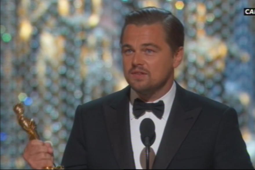 """Leonardo DiCaprio a reçu l'Oscar du meilleur acteur pour son rôle dans """"The Revenant""""."""