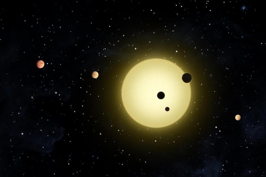 Le système solaire (illustration)