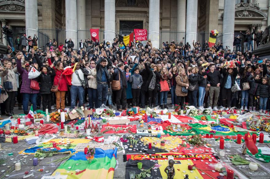 Des rassemblements ont eu lien en Belgique après les attentats du 22 mars.
