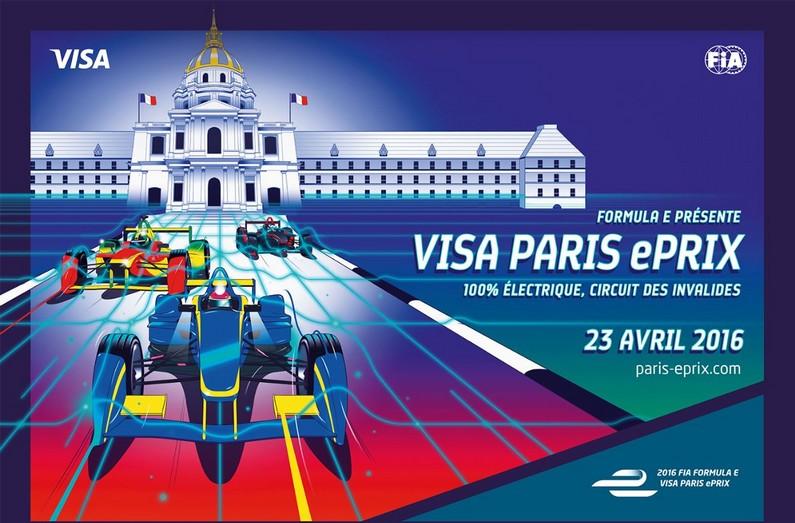 L'affiche du Visa Paris ePrix 2016