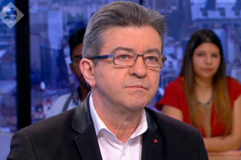 """Jean-Luc Mélenchon dans """"le Supplément"""" de Canal + le 27 mars 2016."""
