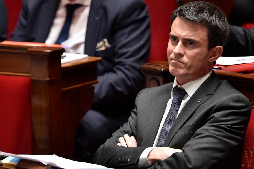 Manuel Valls, à l'Assemblée nationale, le 29 mars 2016