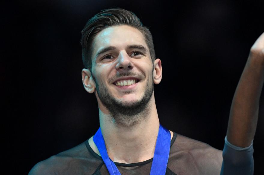 Le patineur Morgan Ciprès aux championnats d'Europe de Minsk en 2019.