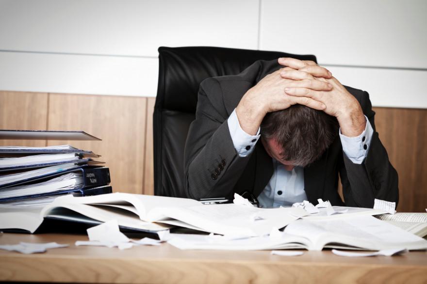 Le burn-out au travail (illustration)